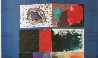 8 alcuni quadri realizzati dai bambini in cui hanno dato un colore alla paura