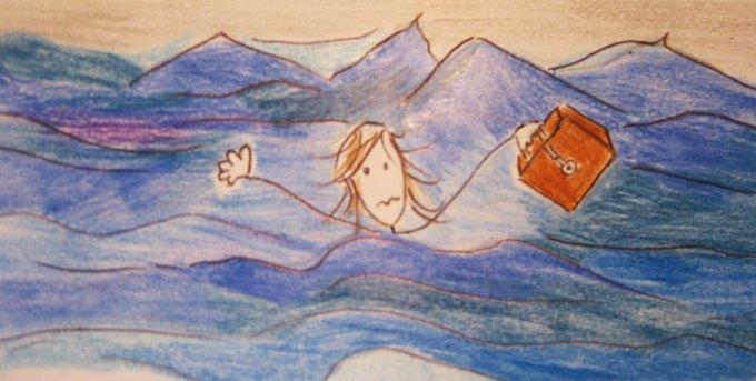 il protagonista della filastrocca si trova in alto mare