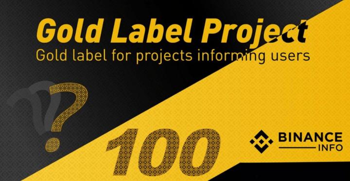 Binance lanza lista Gold Label