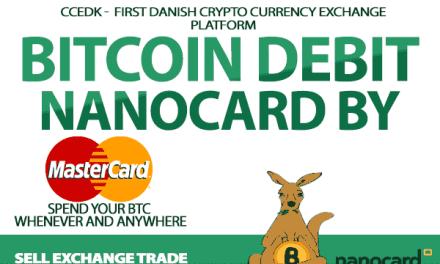 Casa de cambio danesa CCEDK lanza tarjeta de débito Bitcoin Mastercard