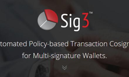 SIG3 lanza validación automática de transacciones bitcoin para carteras multi-firma