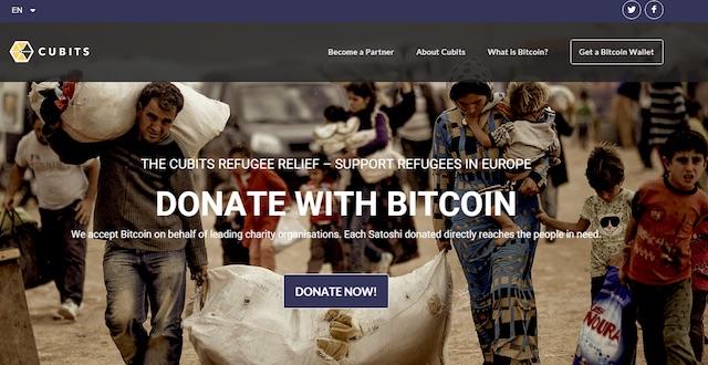 Cubits lanza servicio para enviar donaciones a los refugiados sin comisiones