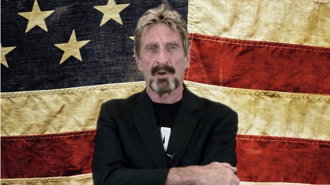 Creador de McAfee Antivirus acepta donaciones en bitcoins para su campaña presidencial