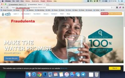 CriptoNoticias-Donaciones-The-Water-Project-Fradulenta