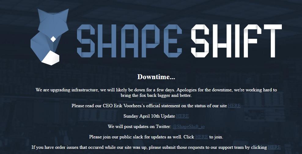 La casa de cambio Shapeshift es hackeada y empresa pone en marcha investigación