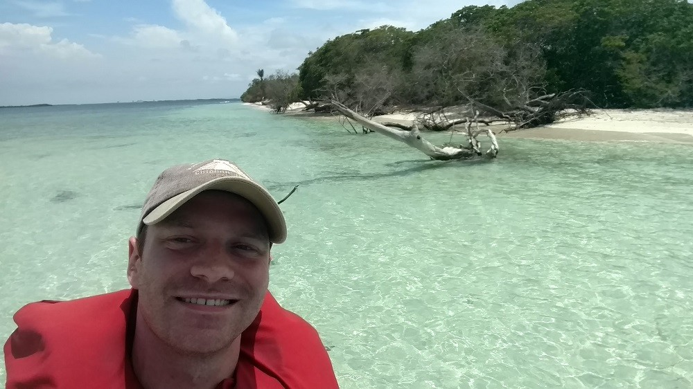 Felix Weis en el Parque Nacional Morrocoy
