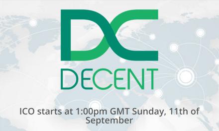 La plataforma DECENT lanza su Oferta Inicial de Monedas (ICO)