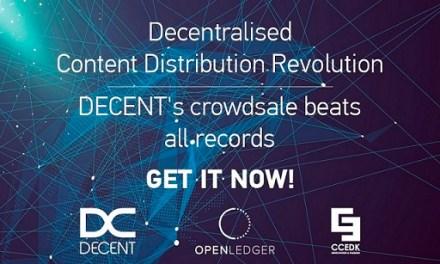ICO de la plataforma blockchain DECENT recauda más de 4.138 BTC en dos días