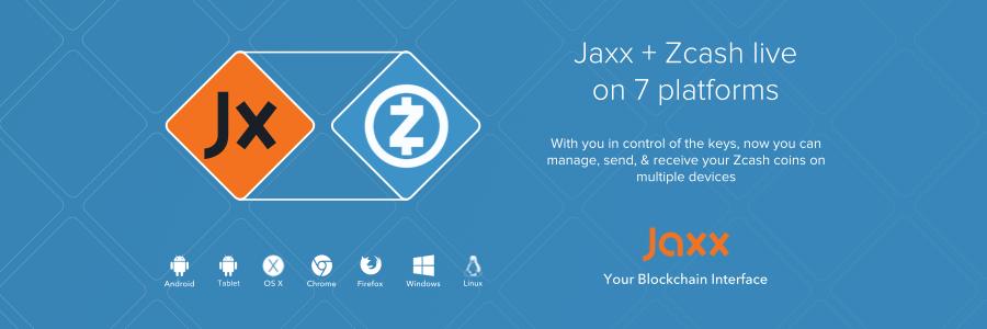 Zcash ahora está disponible en la cartera Jaxx