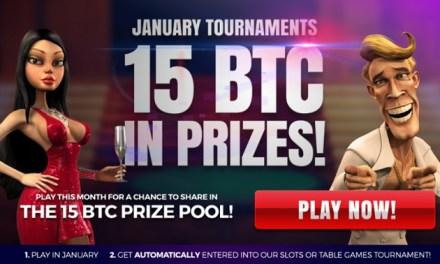 15 BTC en torneos de enero en mBit Casino!