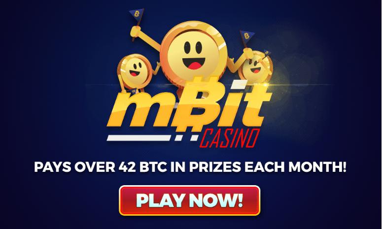 MBit Casino ha estado pagando más de 42 BTC en premios cada mes!