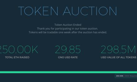 Subasta de Gnosis recauda $12.5 millones vendiendo solo 5% de los tokens en 12 minutos