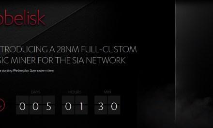 Sia anuncia preventa de su minero especializado Obelisk SC1