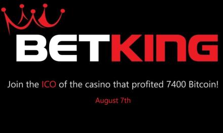 BetKing, Casino criptomoneda, relanzará plataforma después de la ICO, a partir del 7 de agosto de 2017