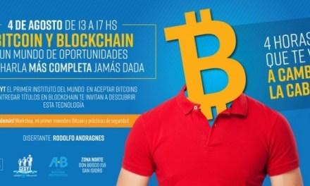 """ONG Bitcoin Argentina dictará charla """"Bitcoin y Blockchain: un mundo de oportunidades"""""""