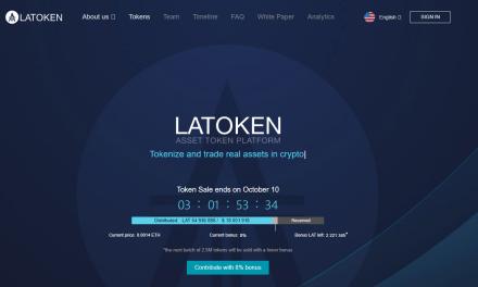 LAToken, la plataforma para convertir activos físicos en tokens tiene su ICO en pre-venta