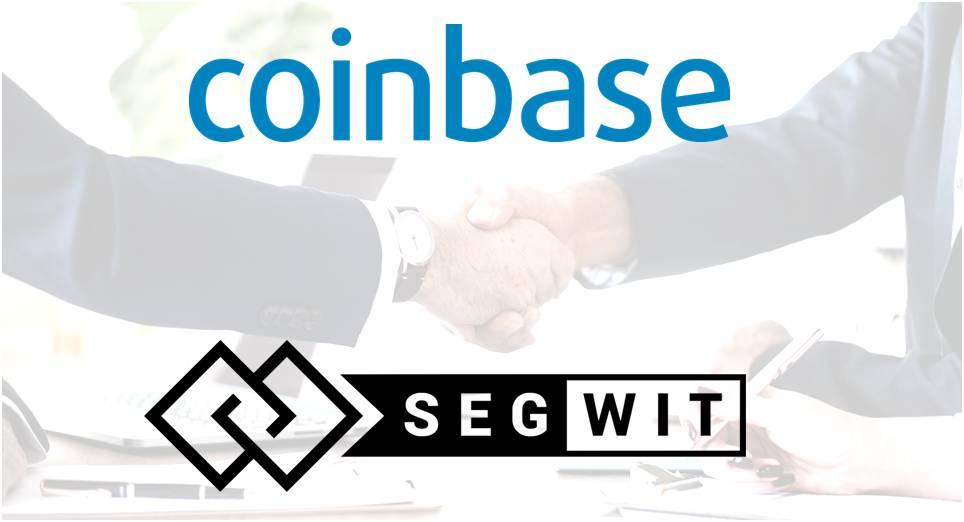 Coinbase anuncia que habilitará transacciones SegWit la próxima semana