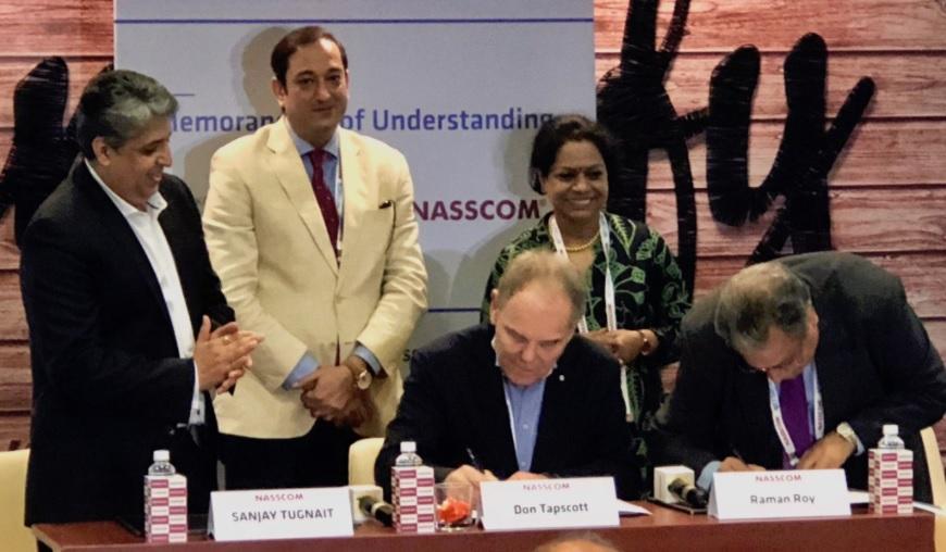 Nasscom y Don Tapscott contruirán centro de desarrollo educativo, empresarial y gubernamental de blockchain en India