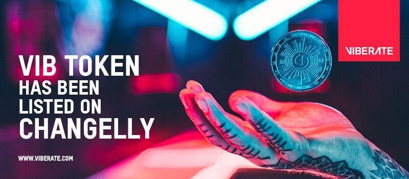 El token de Viberate es agregado en la plataforma Changelly