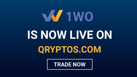 1World Online anuncia que su Token 1WO, primero de su tipo, se cotiza en QRYPTOS