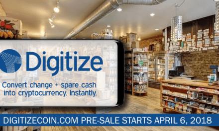 Digitize Coin convierte el efectivo suelto de los usuarios en criptomonedas para transacciones diarias
