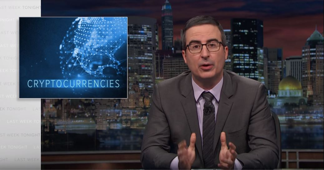 Hasta el comediante John Oliver habla sobre criptomonedas por HBO