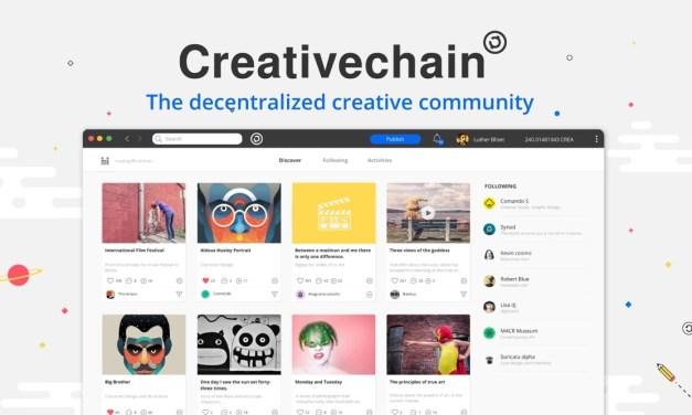 Creativechain: la red social de las comunidades creativas descentralizadas anuncia el lanzamiento de su plataforma