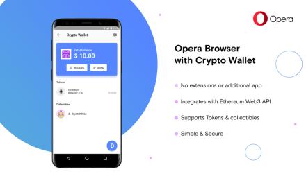 Nueva versión del navegador Opera incorpora criptomonedero de Ethereum