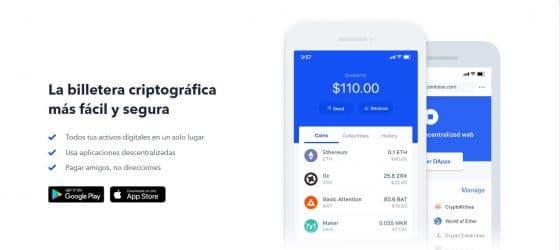 Aprende a usar Coinbase Wallet: dApps y tokens en un solo monedero
