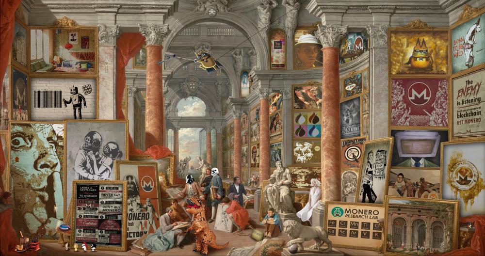 Ocultan fondos de Monero en obra de arte