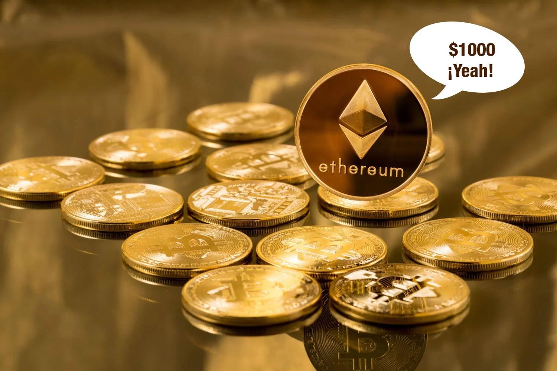 Ethereum supera por primera vez los $1000