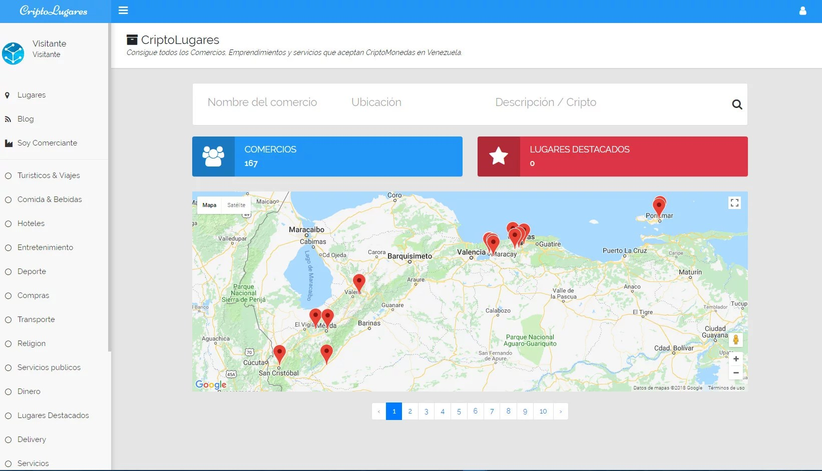 Criptolugares - Consigue todos los Comercios, Emprendimientos y servicios que aceptan CriptoMonedas en Venezuela.
