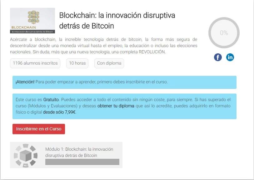 Curso gratuito de blockchain