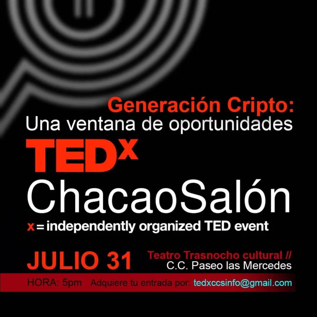 Evento TEDx en Venezuela, Generacion Cripto Una Ventana de oportunidades