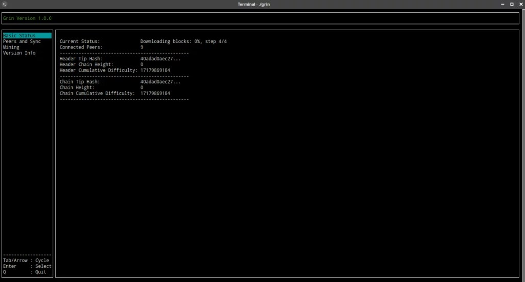 Grin oficial software sobre Debian testing