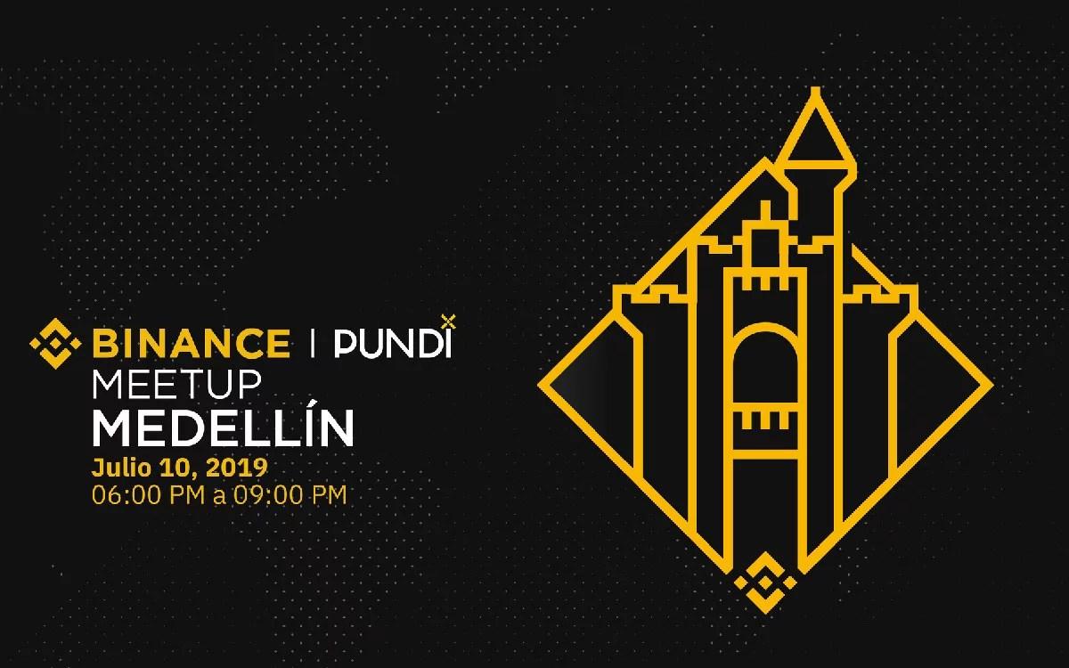 Meetup de binance y PundiX en la ciudad de Medellín