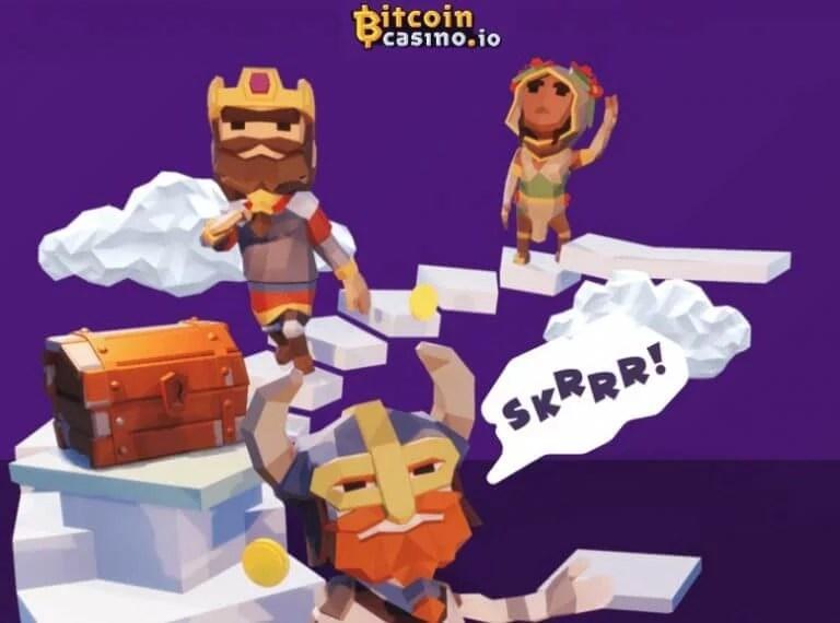 imágen de inicio del sitio web bitcoincasino.io