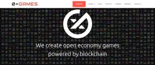 Portal de inicio del estudio de desarrollo de videojuegos blockchain OxGames