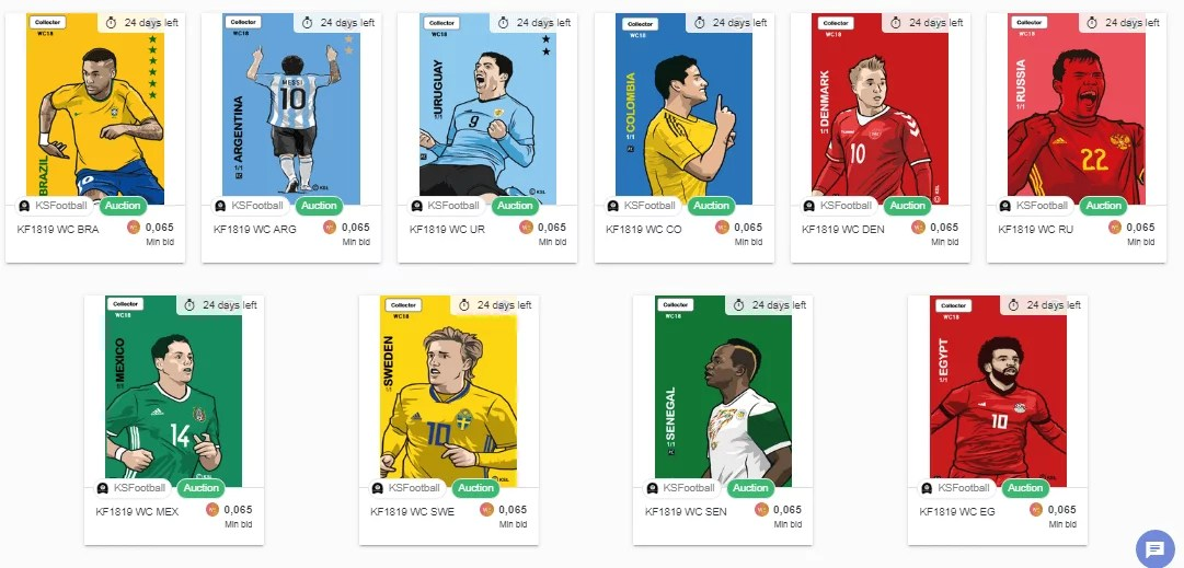 Imagen de la tienda digital de KS Football en OpenSea
