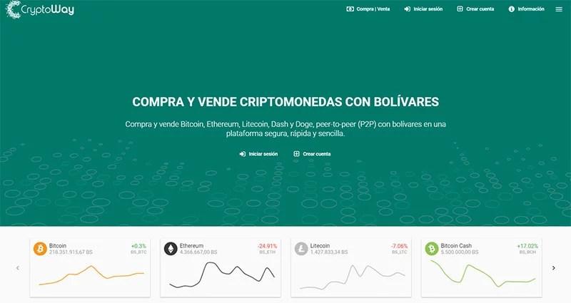 Comprar bitcoin en Venezuela con Crypoway