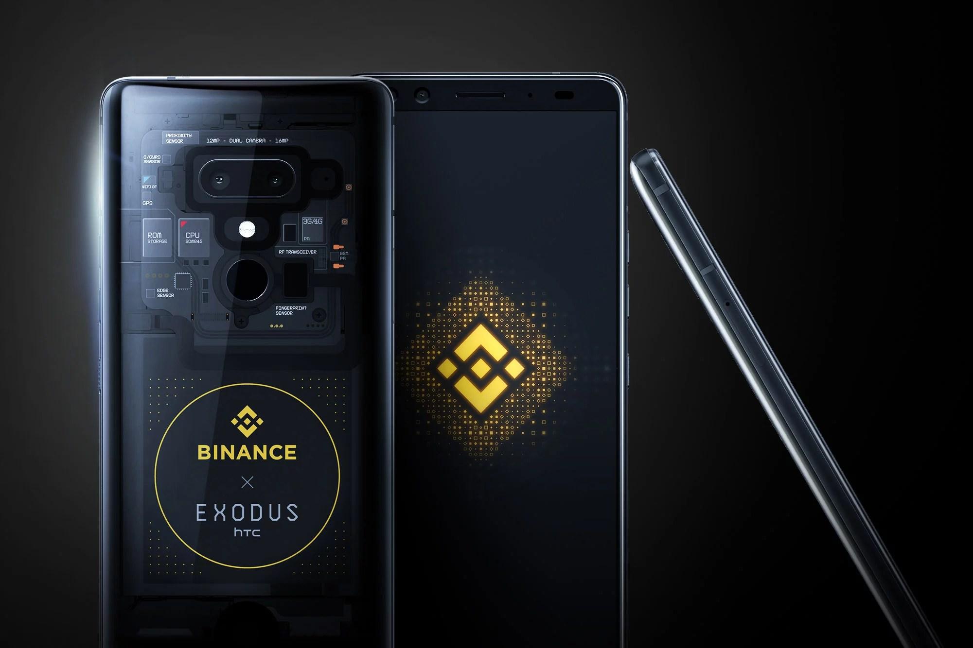 HTC y Binance inician la venta de la edición limitada del teléfono blockchain Exodus 1