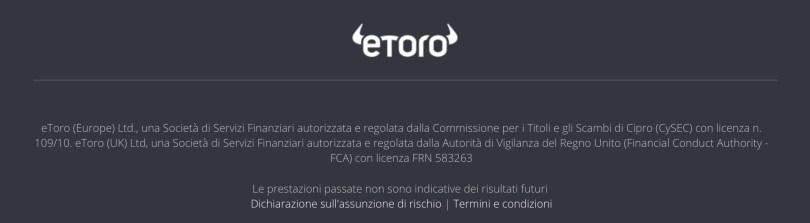 eToro Piattaforma Regolamentata CySEC