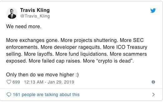 Travis Kling Tweet Chiusura Exchange