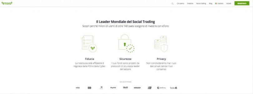 Investire in Ethereum con eToro