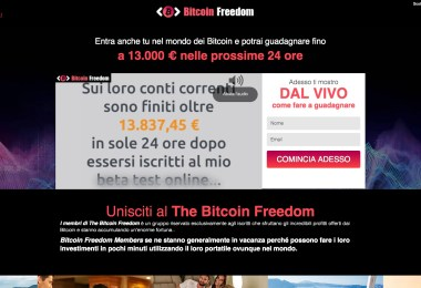 Bitcoin Freedom Truffa o Funziona Opinioni e Recensioni