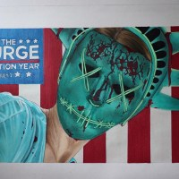Young Artist Jiovanny Lopez Creates Drawings Inspired by 'THE PURGE: ELECTION YEAR'