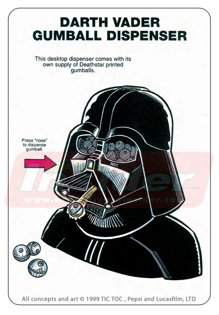 Porta-chicletes do Vader