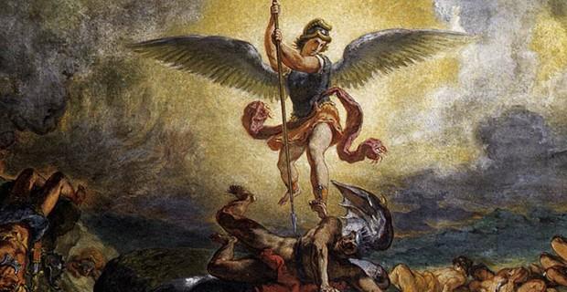 Eugene Delacroix St. Michael defeats the Devil 854-61