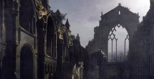Ruins of Holyrood Chapel (1824) by Louis Daguerre