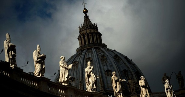 VATICAN-POPE-ST PETER4S BASILICA...This picture shows the dome o